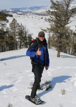 Snow-shoeing in Yellowstone