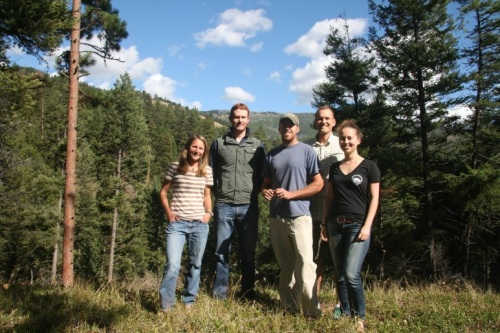 The crowd funding team (from left to right): Apryle Craig, Thomas Newsome, Justin Dellinger, Aaron Wirsing, Carolyn Shores